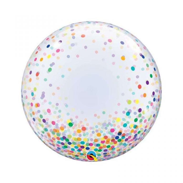 BUBBLE 24 DECO CORIANDOLI MULTICOLOR