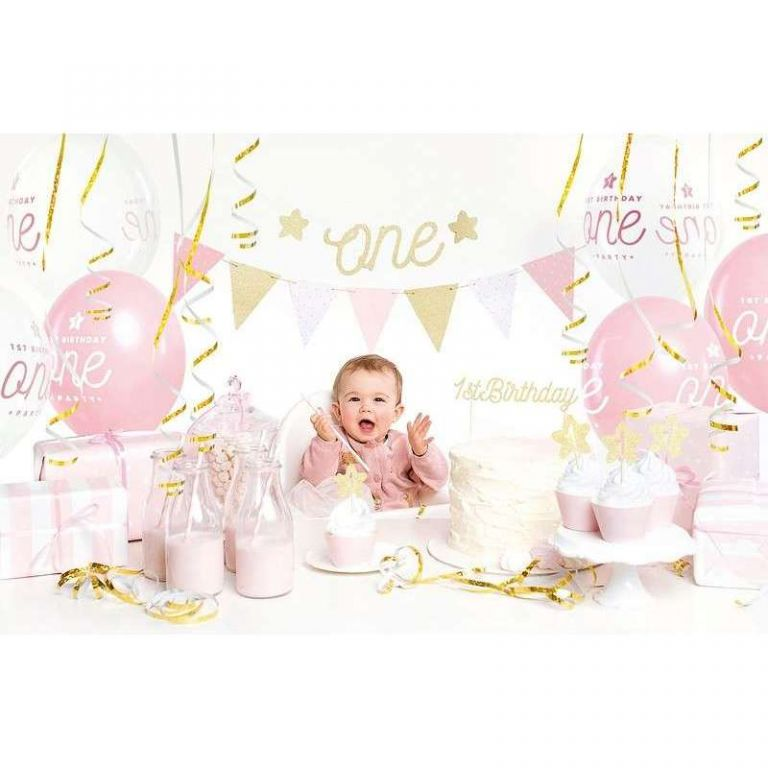 BOX 1ST BIRTHDAY PINK