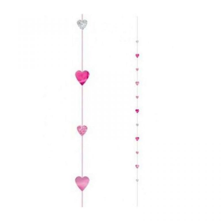 BALLOON TAIL CUORI ROSA