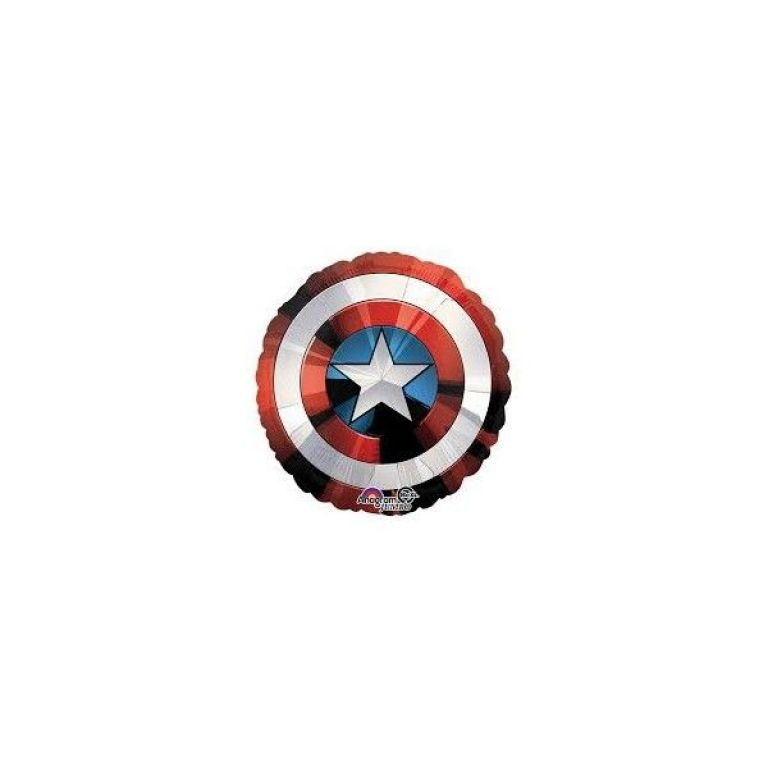 MYLAR SUPERSHAPE 28' SCUDO CAPITAN AMERICA