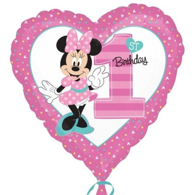 MYLAR18 1COMP  MINNIE CUORE