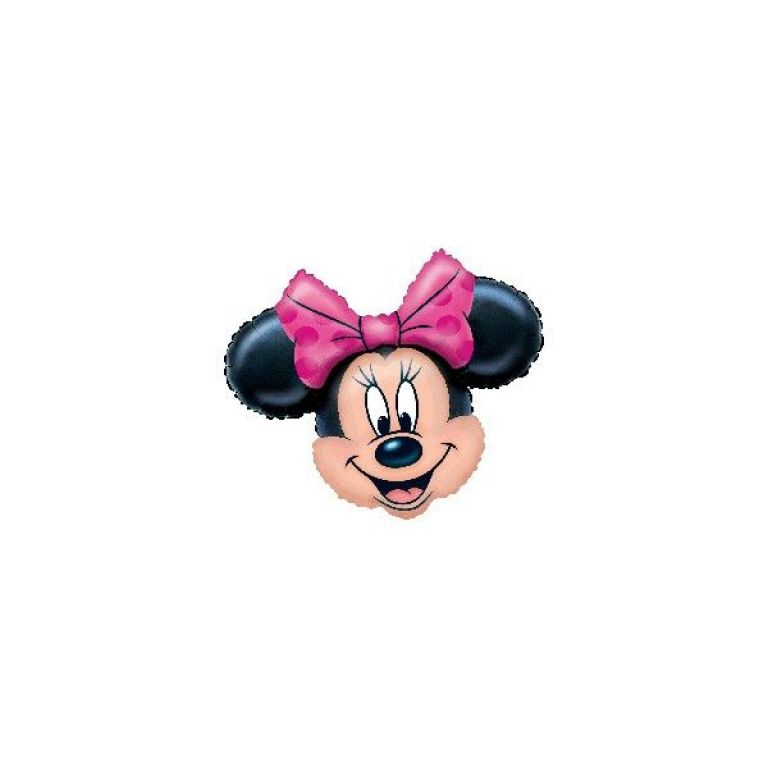 MYLAR SUPERSHAPE 28'x23' MINNIE FUXIA