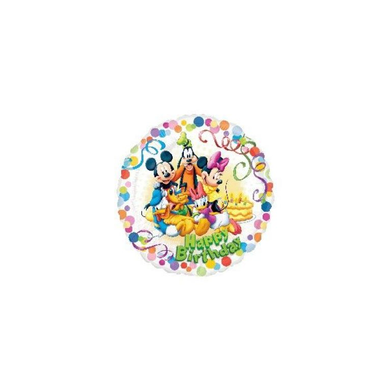 MYLAR TONDO 18' TOPOLINO PARTY