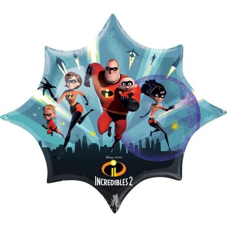 MYLAR SUPERSHAPE JUMBO 35'x29'INCREDIBLES