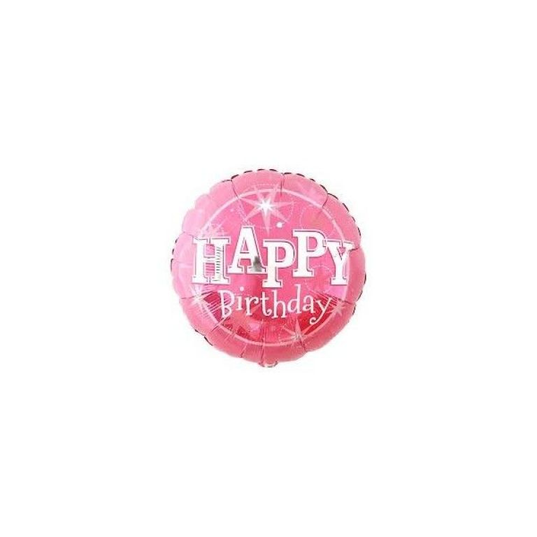 HAPPYBIRTH 18' PINK SPARKLE